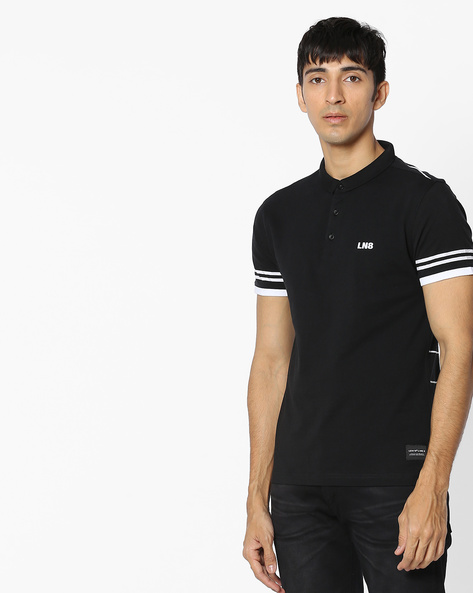Polo T-shirt With Striped Back By LEVIS ( Black )