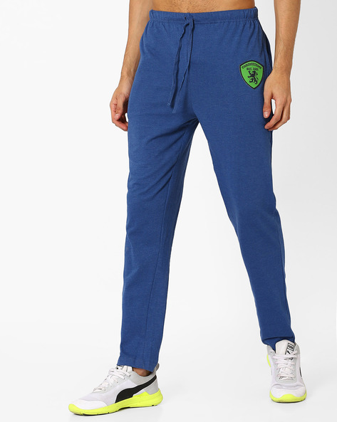 Track Pants With Drawstring By CHROMOZOME ( Lightblue )