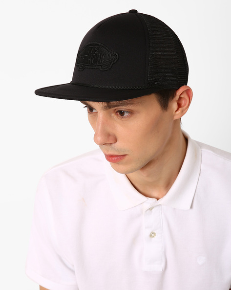 Snapback Cap With Mesh Panels By Vans ( Black )