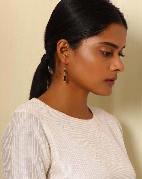Gold-Plated Brass Drop-Earrings By Indie Picks ( Multi ) - 460045188001