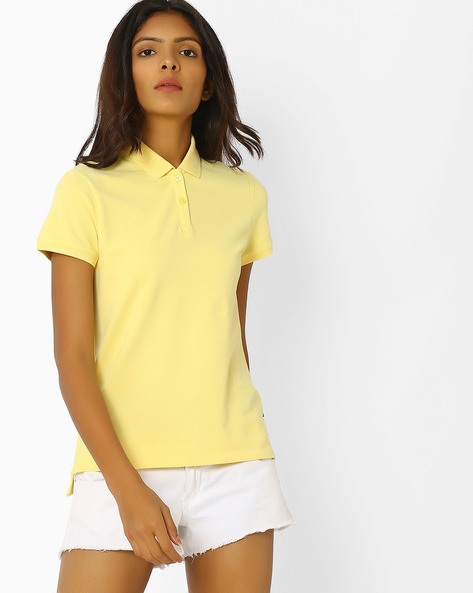 Polo T-shirt With Step Hem By LEVIS ( Yellow )