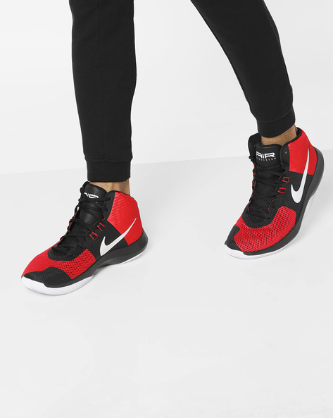 Air Precision Basketball Shoes By NIKE ( Red )