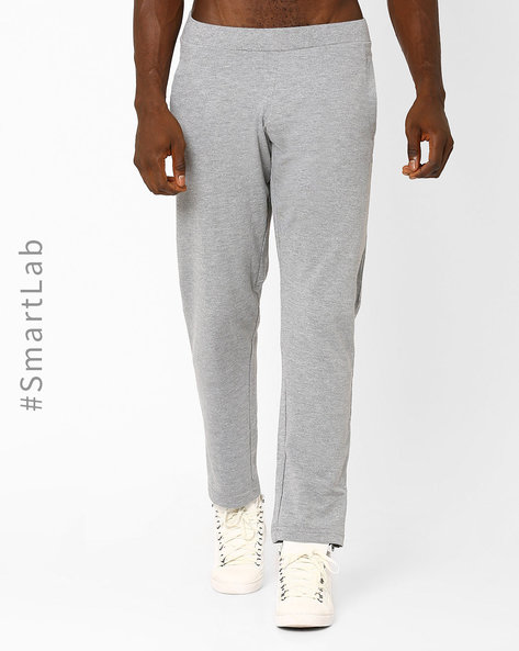 Relaxed Fit Track Pants With Elasticated Waistband By Wildcraft ( Grey )