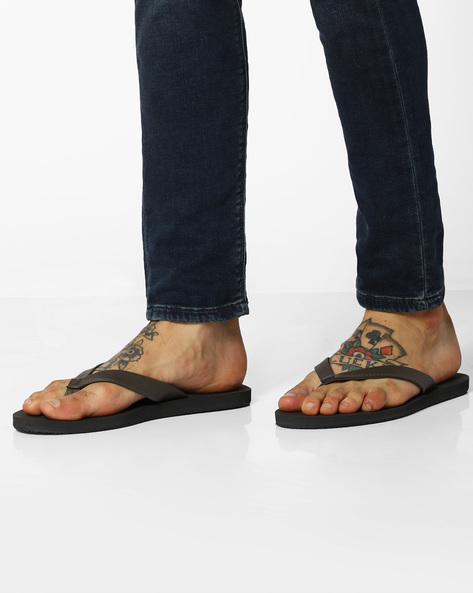 Thong-Style Flip-Flops By UNITED COLORS OF BENETTON ( Grey )