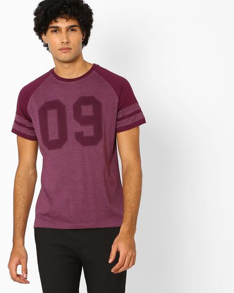 Colourblock Regular Fit T-shirt By Garcon ( Greymelange )