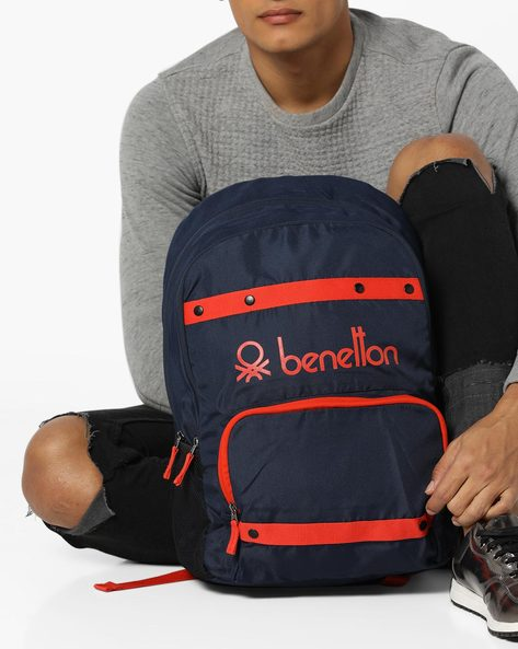 Laptop Backpack With Contrast Taping By UNITED COLORS OF BENETTON ( Darkblue )