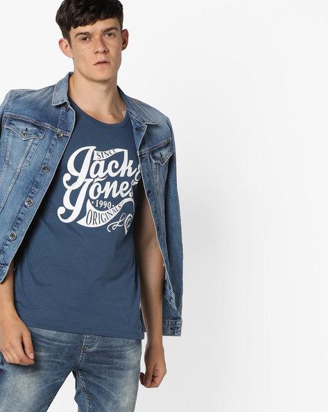 Statement Print Fashion Vest By Jack & Jones ( Blue )