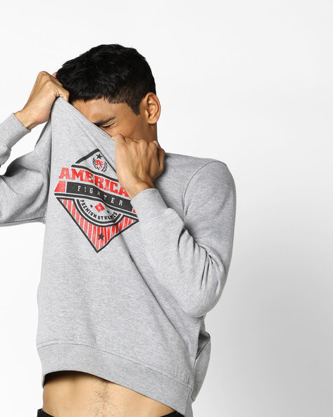 Graphic Print Pullover By Nature Casuals ( Grey )