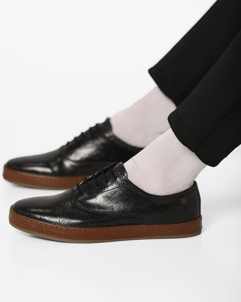 Point Textured Lace-Up Shoes By Jack & Jones ( Black )