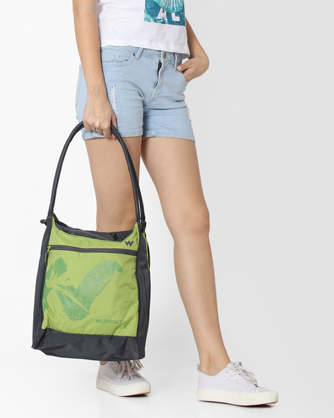 Printed Hobo Bag By Wildcraft ( Green )