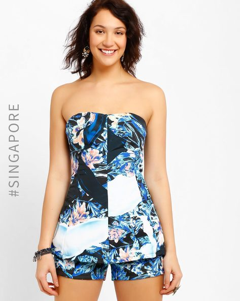 Printed Jumpsuit By MDS ( Blue )