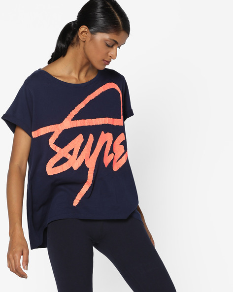 Typographic Print High-Low T-shirt By SUPERDRY ( 09s )