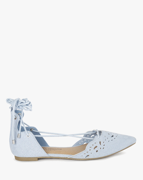 Ghillie Flats With Cut-Out Details By CHRISTIAN SIRIANO ( Blue )