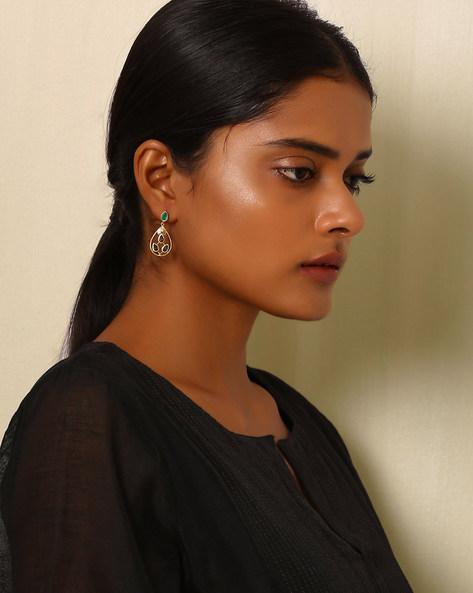 Gold-Plated Brass Drop-Earrings By Indie Picks ( Multi ) - 460045162001