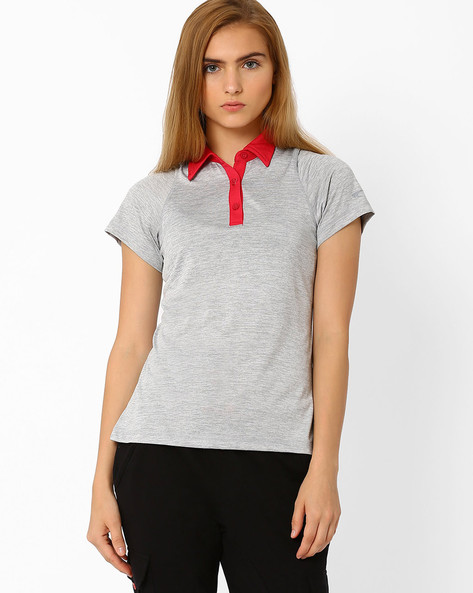 Quick Dry Polo T-shirt By PERFORMAX ( Greymelange )