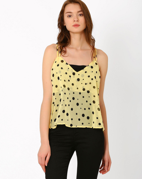 Polka Dot Spaghetti Top By PrettySecrets ( Multi )