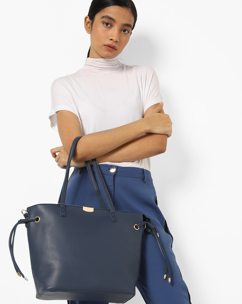 Tote Bag With Pouch By Lino Perros ( Blue )