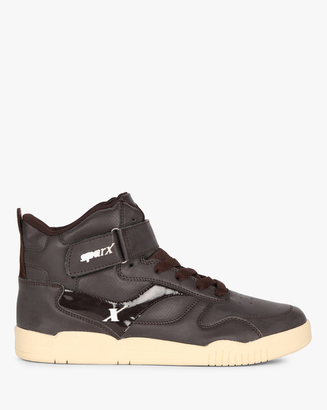 High-Top Shoes With Panelled Construction By SPARX ( Brown )
