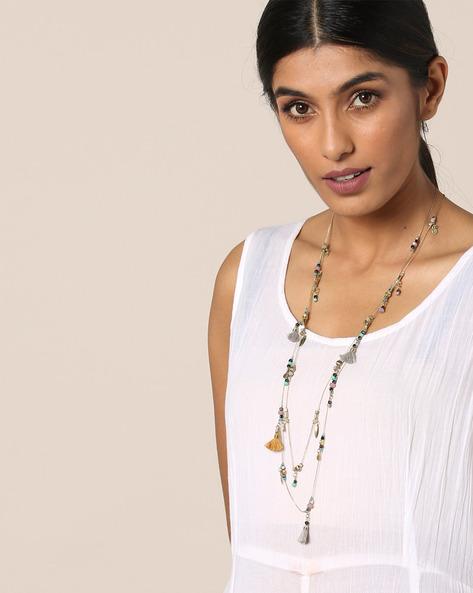 Metal Beaded Long Necklace By Indie Picks ( Multi ) - 460131941001