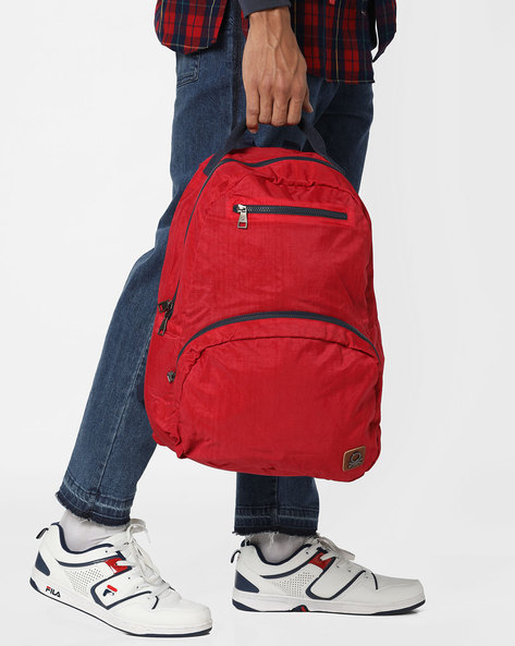 Colourblock Laptop Backpack By UNITED COLORS OF BENETTON ( Red )