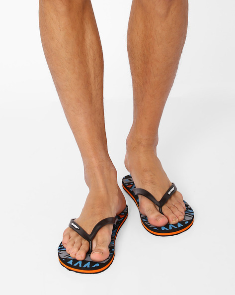 Thong-Style Empire Flip-Flops By Sole Threads ( Blue )