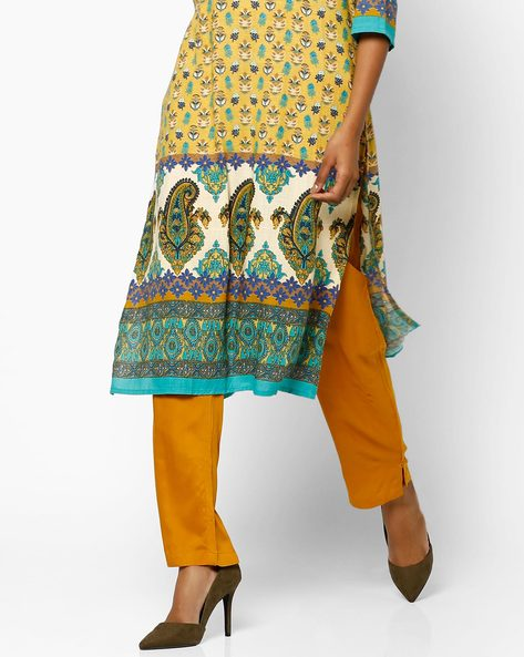 Salwar Pants With Drawstring Waist By Shree ( Mustard )