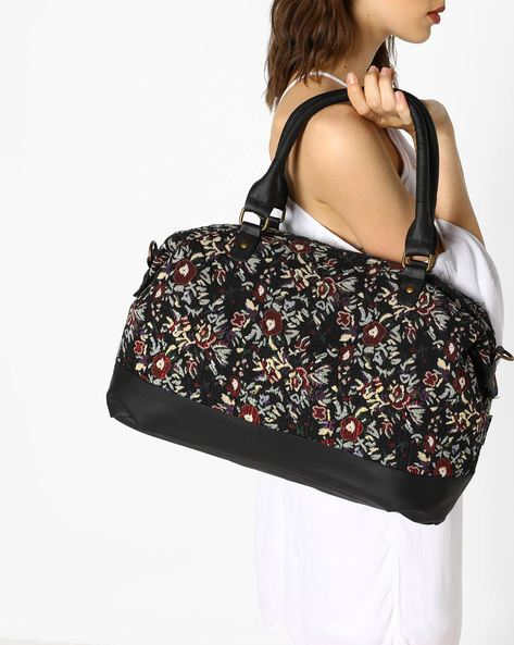 Woven Tote Bag With Detachable Sling By Kanvas Katha ( Multicolor )