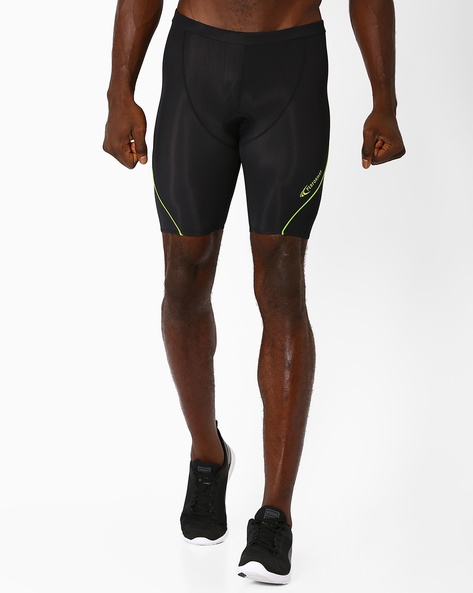 Panelled Cycling Shorts With Quick Dry By PERFORMAX ( Black )