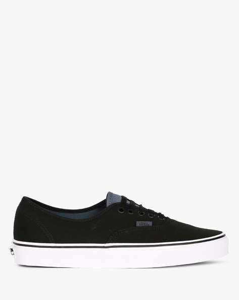 Authentic Lace-Up Canvas Casual Shoes By Vans ( Black )