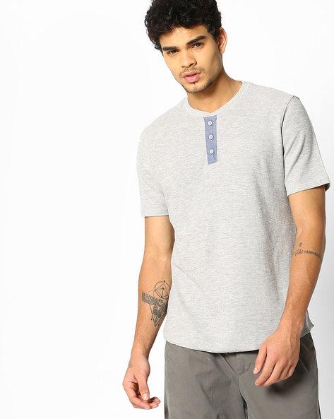 Slub Knit Henley T-shirt By LEVIS ( Grey )