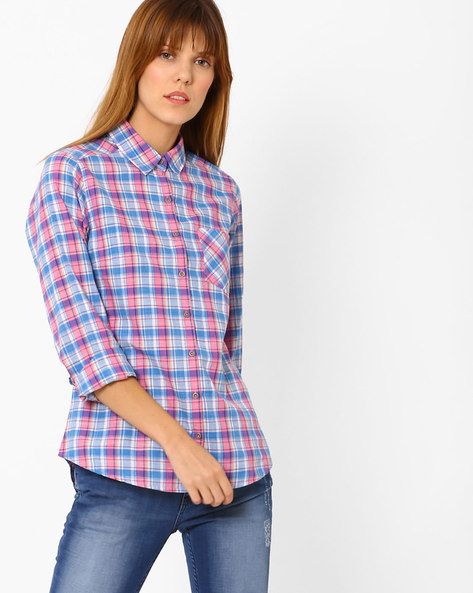 Checked Shirt With Patch Pocket By Pepe Jeans ( Multi )