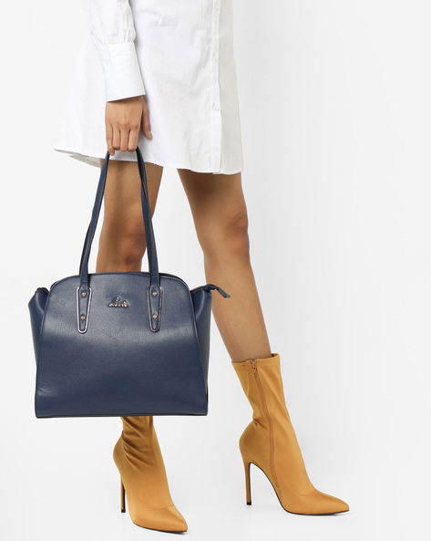 Textured Tote Bag By Lavie ( Navy ) - 460167305001