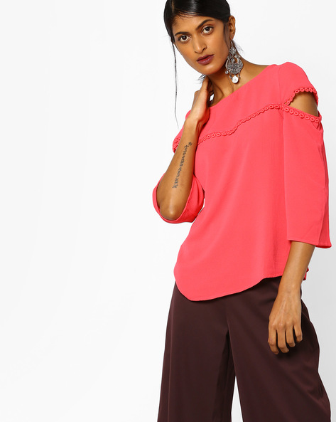 Top With Lace Detail By Femella ( Pink )