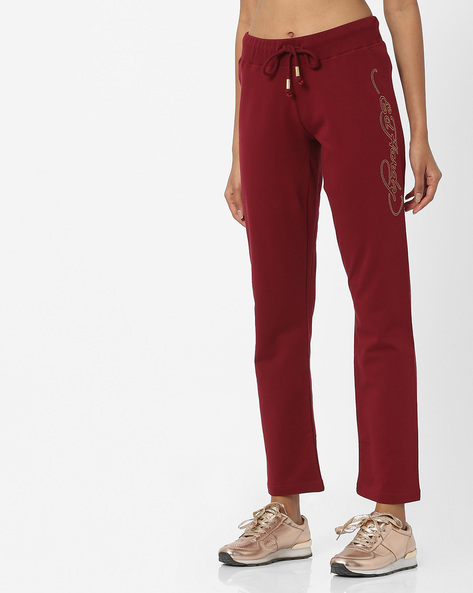 Track Pants With Drawstring Fastening By ED HARDY ( Maroon )
