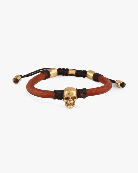 Bracelet With Skull-Shaped Accent By Alto Vida ( Brown )