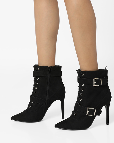 Ankle-Length Stiletto Boots By Truffle Collection ( Black )