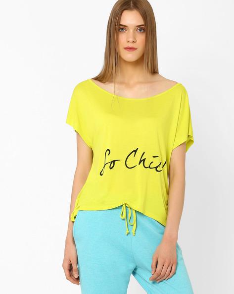Graphic Print T-Shirt By AJIO ( Yellow )