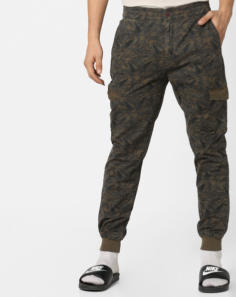 Tropical Print Jogger Pants By U.S. Polo Assn. ( Olive )