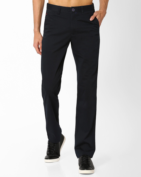 Trez Sport Slim Fit Trousers By Wills Lifestyle ( Blue )