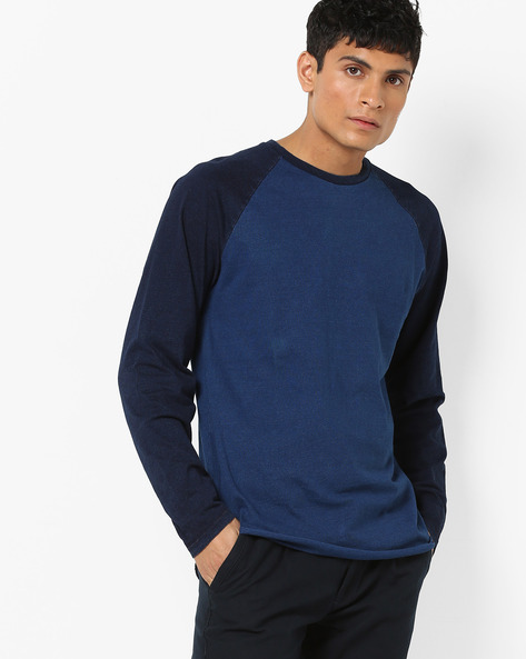 Crew-Neck T-shirt With Raglan Sleeves By LEVIS ( Blue )