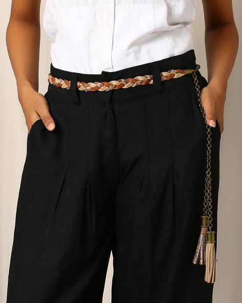 Braided Chain Belt With Tassels By Indie Picks ( Brown )
