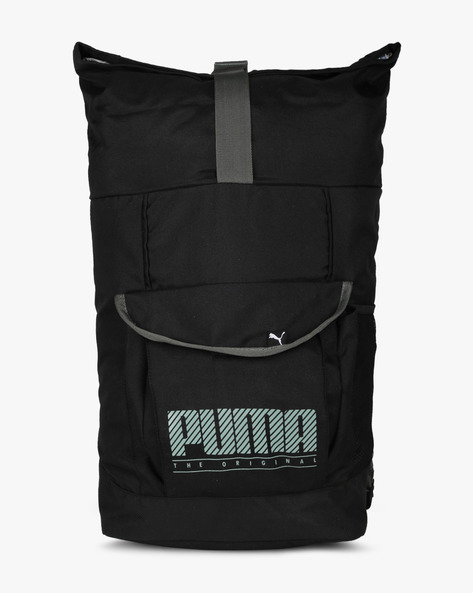 Panelled Backpack With Buckle Closure By Puma ( Black )