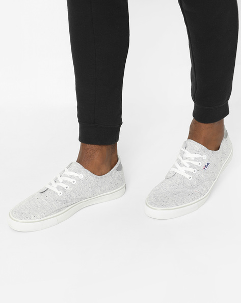 Lace-Up Casual Shoes With Speckle Effect By FILA ( Grey )