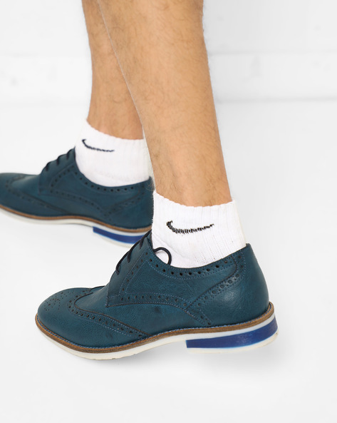 Wingtip N9-Treated Derby Shoes By AJIO ( Navy )