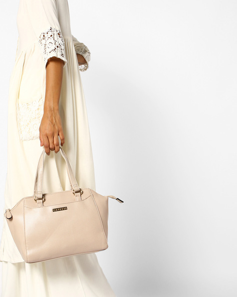 Ariel Satchel Bag By CAPRESE ( Beige )