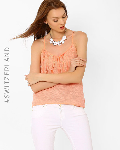 Knitted Top With Tassels By TALLY WEiJL ( Pink )