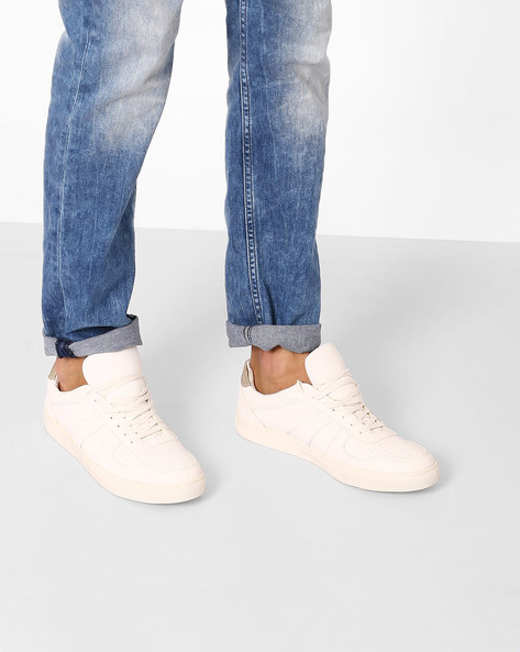 Casual Shoes With Lace-Ups By Carlton London ( White )