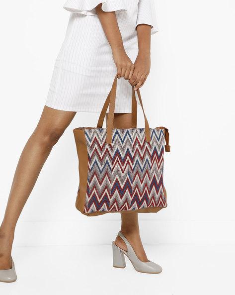 Jacquard Tote Bag By Kanvas Katha ( Multicolour ) - 460176904001