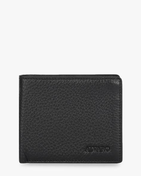Genuine Leather Bi-Fold Wallet By ALVARO CASTAGNINO ( Black ) - 460135683001