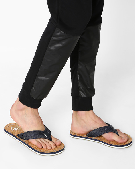 Freddy Denim Flip-Flops By Sole Threads ( Navy )